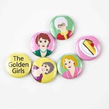 Arthurs Plaid Pants ARP LG - Golden Girls 6 pc Magnet set