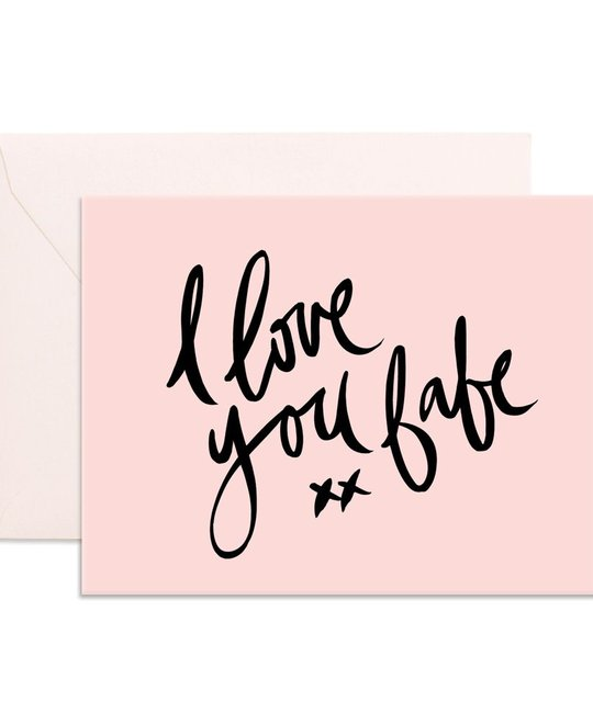 Fox and Fallow I Love You Babe Card