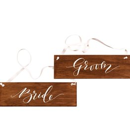 Fox and Fallow FAF PS - Bride and Groom Wood Sign