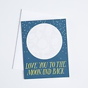banquet atelier and workshop To the Moon and Back Card