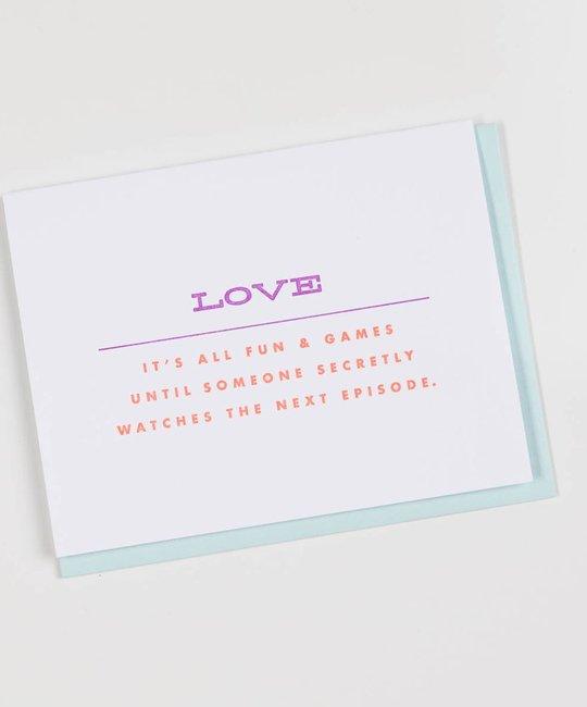 farewell paperie Fun & Games Love Card