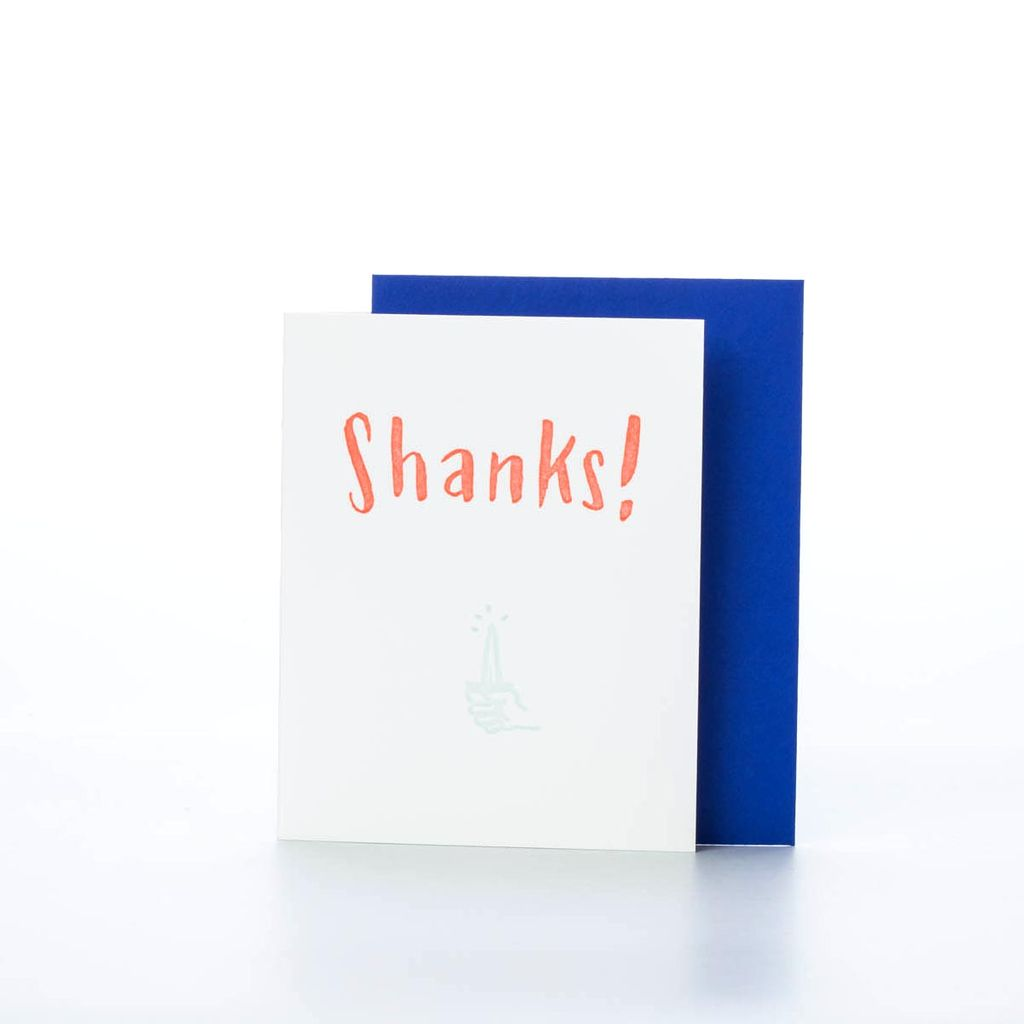 Ladyfingers Letterpress Shanks! Card