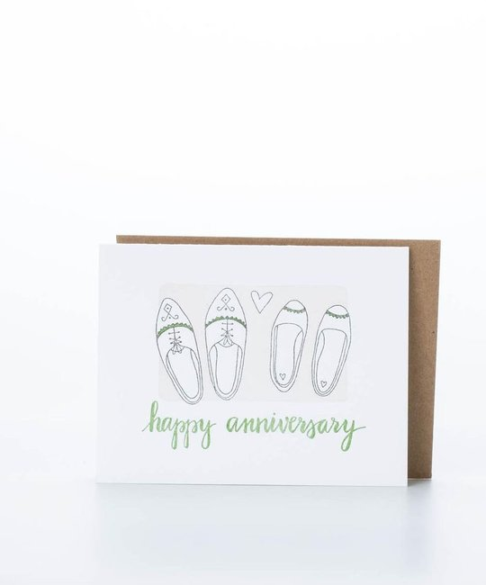 One Canoe Two Letterpress - OC Happy Anniversary Shoes
