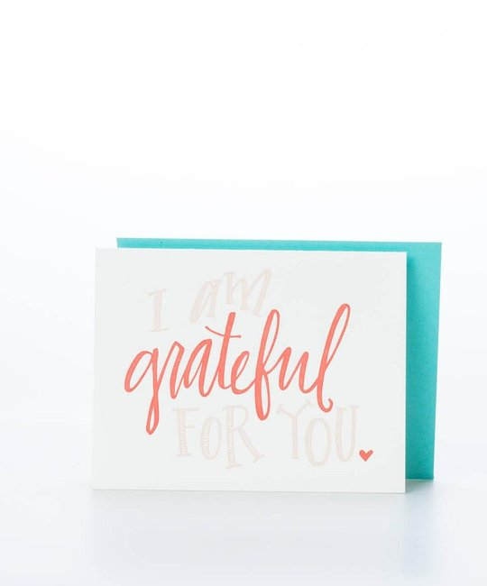 Gus and Ruby Letterpress - GR Grateful for You