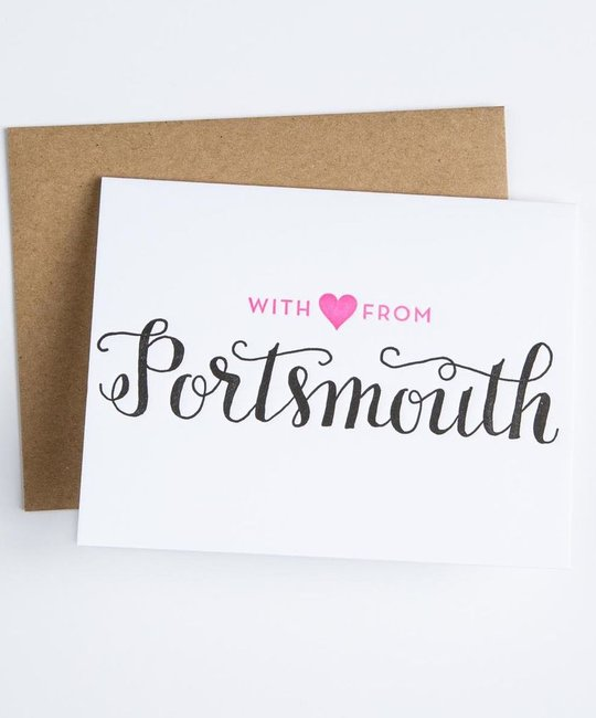 Parrott Design Studio With Love from Portsmouth Card