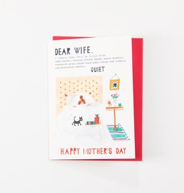 Mr. Boddingtons Studio Dear wife mother's day card