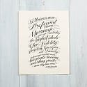 Ladyfingers Letterpress Hand Lettered Marriage Print