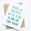 Near Modern Disaster Beautiful From Behind Card