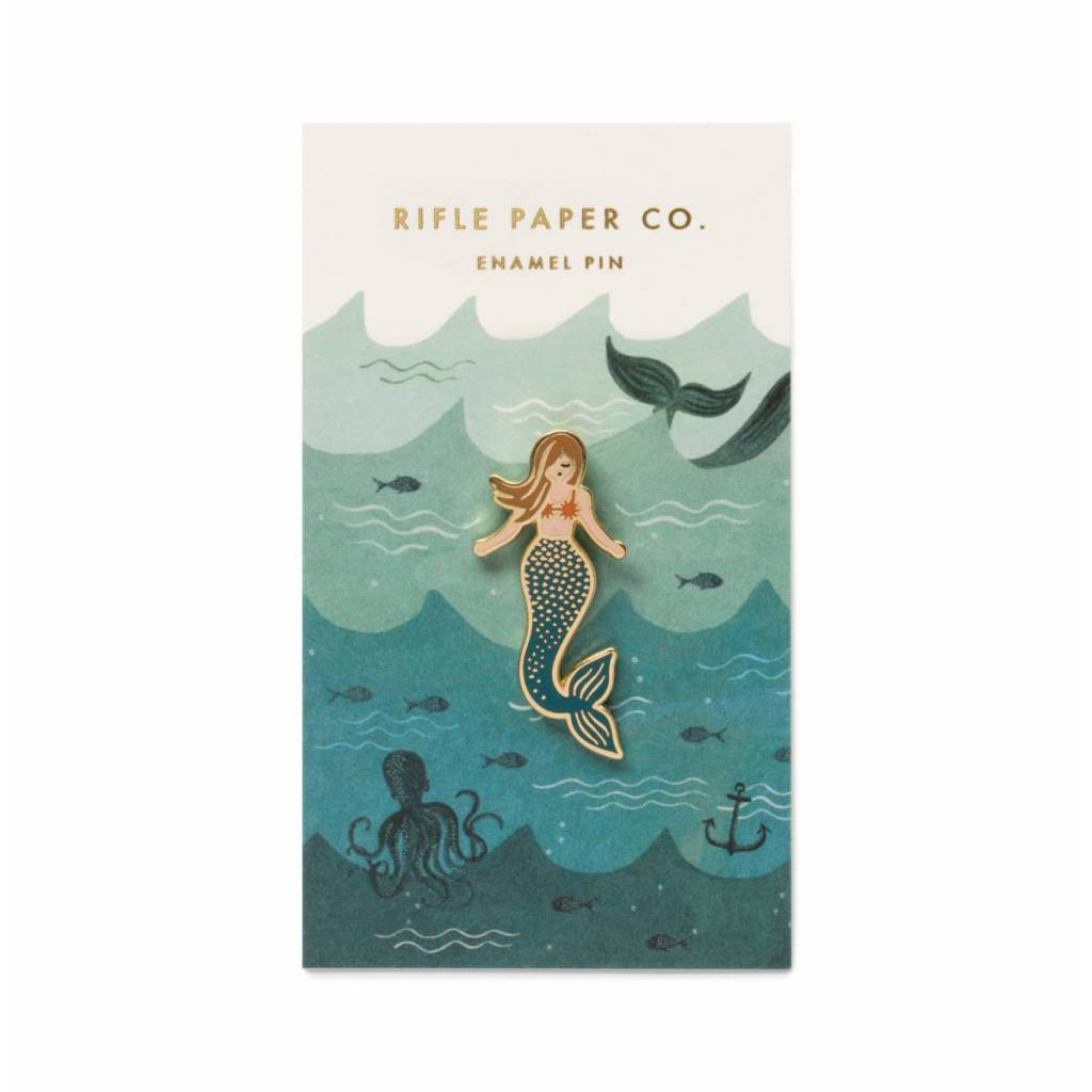 Rifle Paper Co. Mermaid Enamel Pin