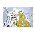 "Brainstorm Print and Design - BS Acadia National Park Map Screen Print 18""x24"""