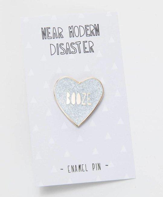 Near Modern Disaster Booze Heart Enamel Pin