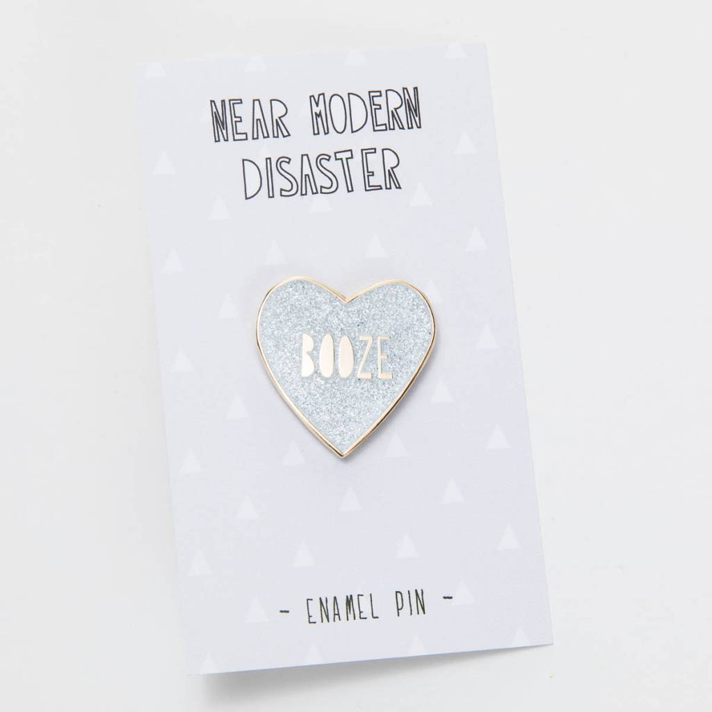 Near Modern Disaster Booze Heart Enamel Pin