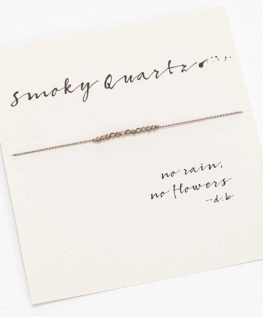 Mai Lin Jewelry Silk cord bracelet, Smoky Quartz