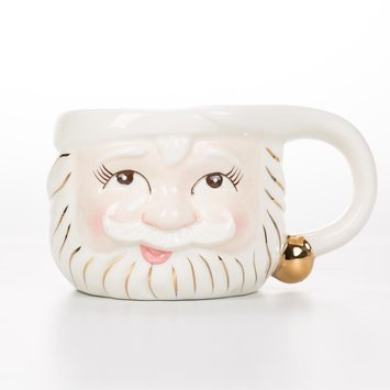 One Hundred 80 Degrees White Santa Mug