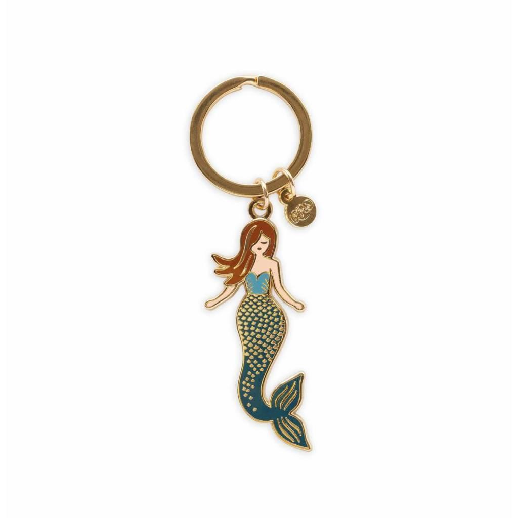 Rifle Paper Co. Mermaid Enamel Keychain