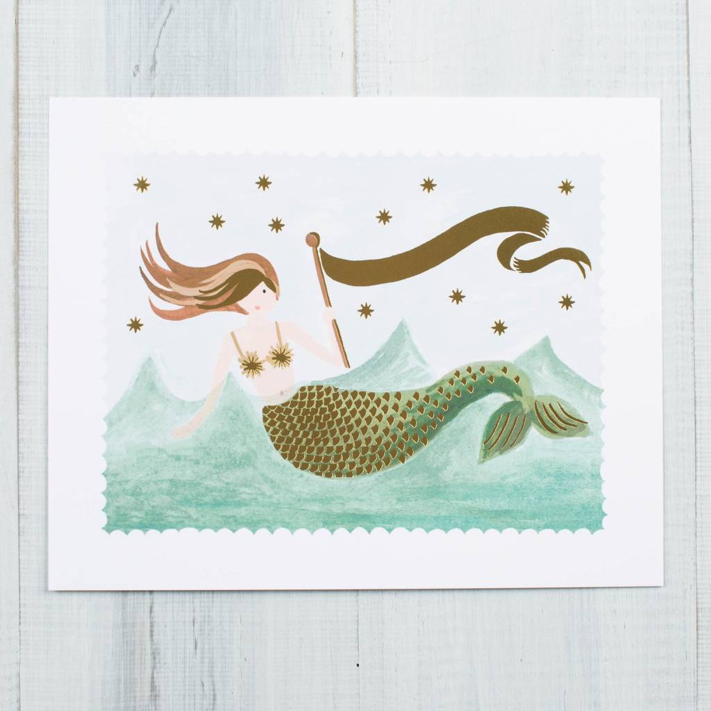 Rifle Paper Co. Mermaid Art Print