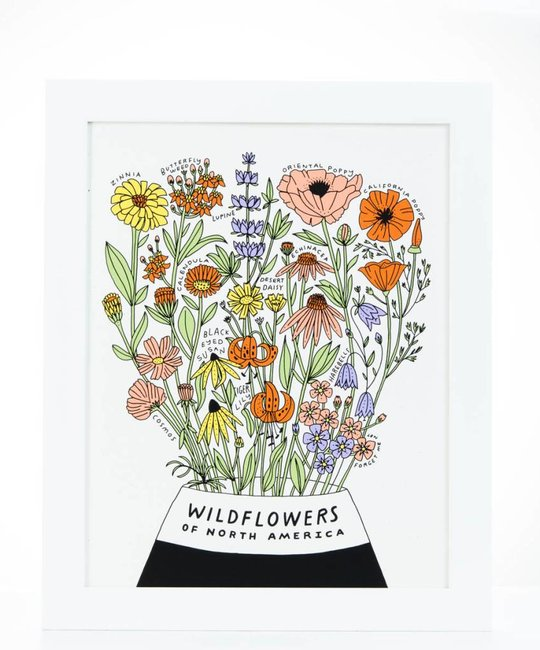 Worthwhile Paper - WOP Wild Flowers of North America Screen Print