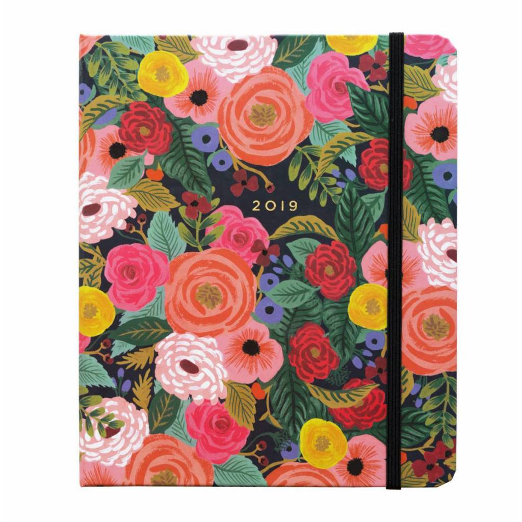 Rifle Paper Co. 2019 Juliet Rose Covered Spiral 17-Month Agenda
