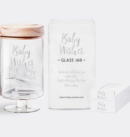 Gratitude Glass Jars GGJBG - Baby Wishes Glass Jar