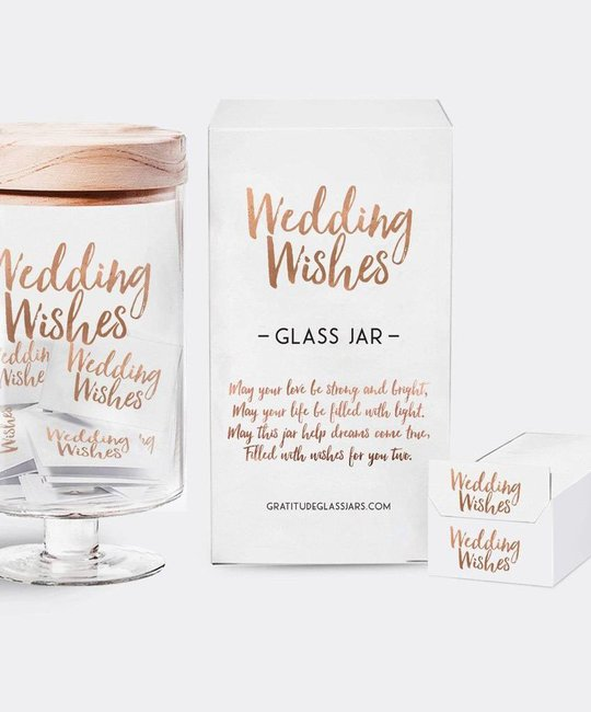Gratitude Glass Jars GGJBG - Wedding Wishes Glass Jar