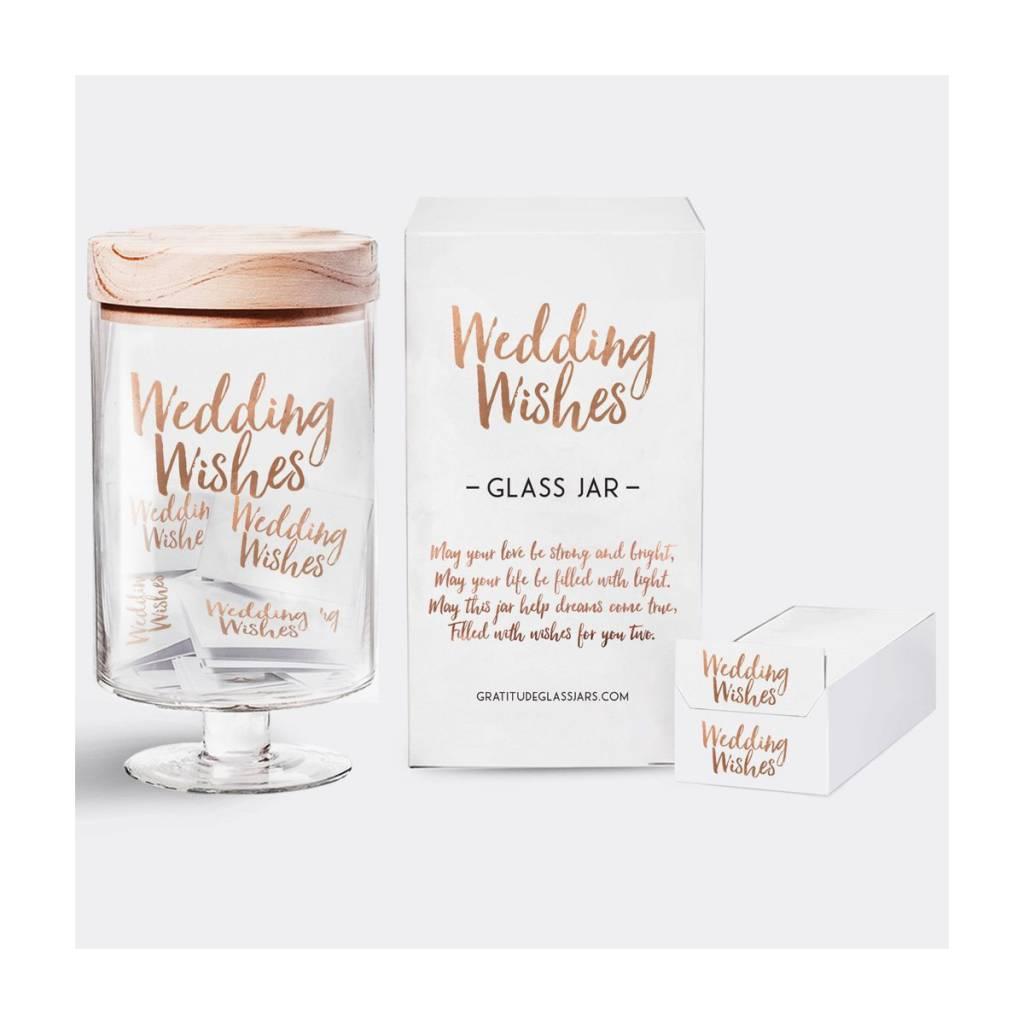 Gratitude Glass Jars GGJBG - Wedding Wishes Glass Jar