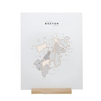 42 Pressed 42P PRLA - Boston Map Foil Print, 16x20