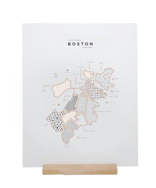 42 Pressed - 42P Boston Map Foil Print, 16x20
