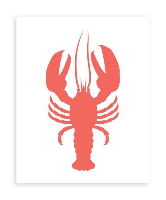 Gus and Ruby Letterpress - GR Lobster Screen Print by Gus & Ruby Letterpress