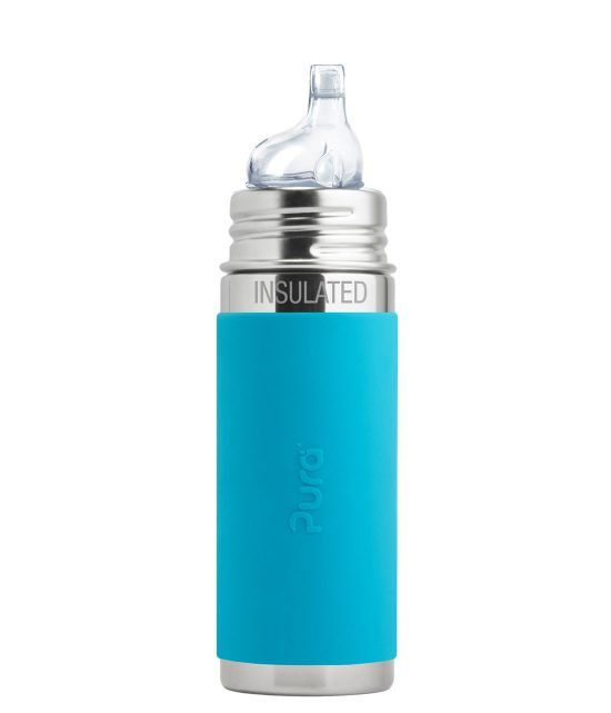 Pura Pura Kiki 9oz Insulated Sleeved Bottle with Sippy Spout
