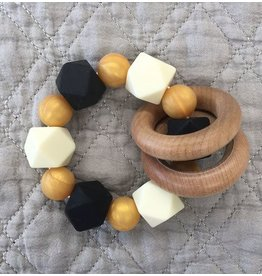 Maison Nola Black & Gold Silicone Teether