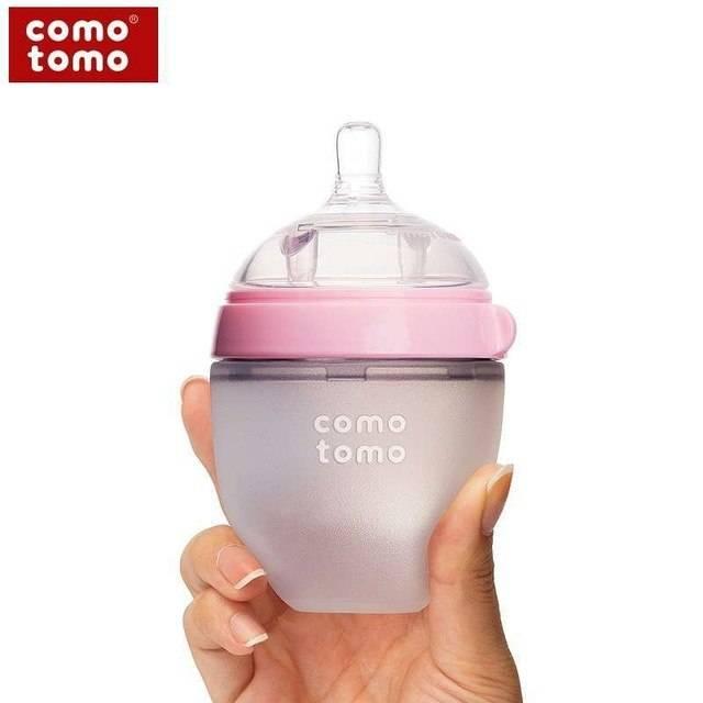 Comotomo Comotomo Baby Bottle (2-Pack) Pink