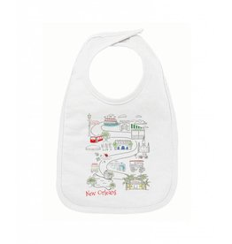 Nola Tawk NOLA Kids Map Bib