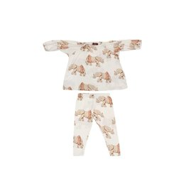 Milkbarn Milkbarn Bamboo Dress & Legging Set- Tutu Elephant