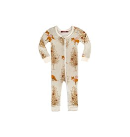 Milkbarn Milkbarn Bamboo Zipper Pajama - Winter Fox