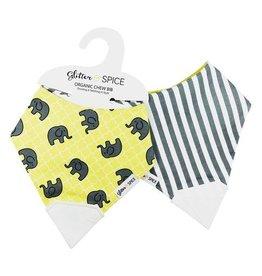 glitter and spice Glitter & Spice Organic Chew Bib - Double-sided