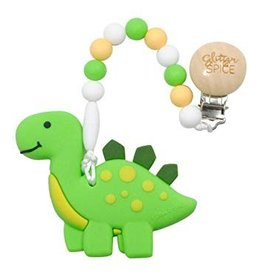 glitter and spice Glitter & Spice Silicone Clip On Teether - Dino