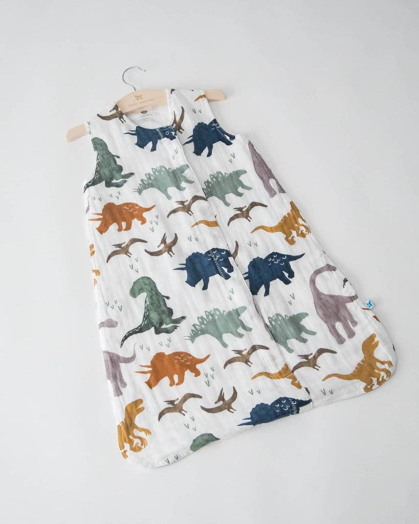 little unicorn little unicorn cotton muslin sleep bag - dino friends