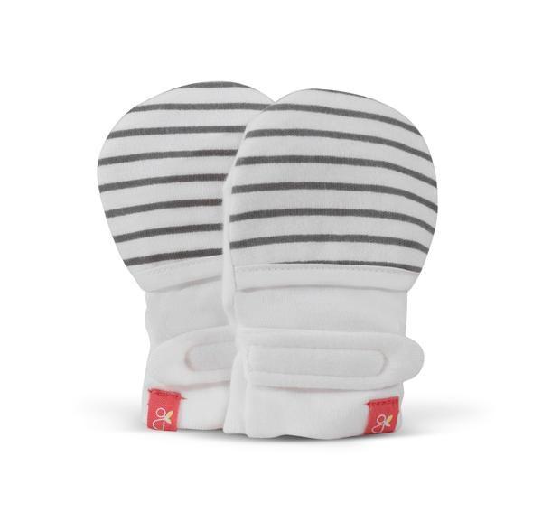 goumikids Goumi Organic Mitts - Stripe Gray