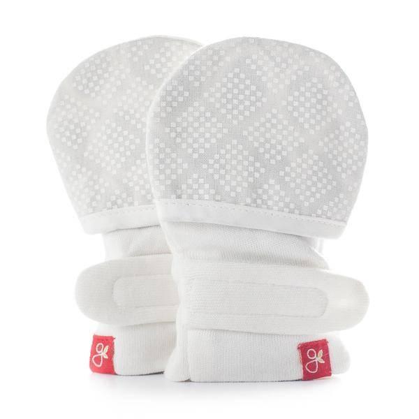 goumikids goumi Organic Mitts- Diamond Dots (Cream)
