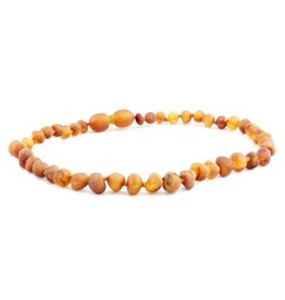 The Amber Monkey The Amber Monkey Amber Teething Necklace - Pop Clasp - Raw
