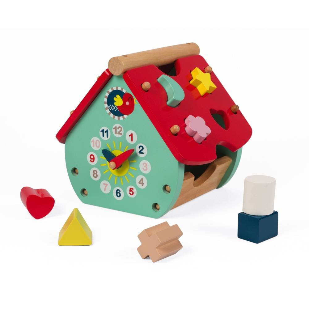 Janod Toys Janod Baby Forest House Shape Sorter