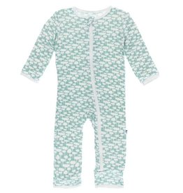 KicKee Pants KicKee Pants Coverall with Zipper- Jade Mushroom