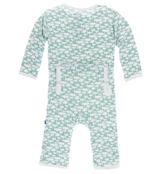 KicKee Pants KicKee Pants Coverall with Zipper- Jade Mushroom