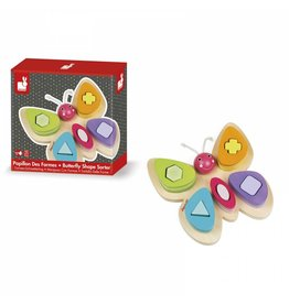 Janod Toys Janod Wooden Butterfly Shape Sorter