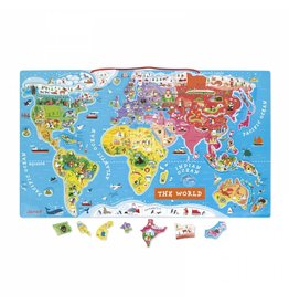 Janod Toys Magnetic World Map Puzzle