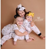 Nola Tawk Saints Black & Gold Organic Baby PJ's