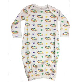 Nola Tawk King Cake Organic Cotton Pajama Set Gown