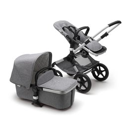 Bugaboo Bugaboo Fox Complete Stroller Set + Accessories - Aluminum/Grey Melange (new floor model)