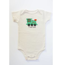 Simply Chickie I Toot Toot Organic Onesie