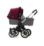 Bugaboo Bugaboo Donkey2 Twin Complete Aluminum/Grey/Red